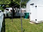 Side Yard with Enclosed Shower