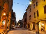 strada maggiore by night