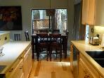Hearthside Cabin, dining table seats 6