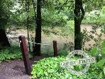 Hearthside Cabin, guest photo, path to creek