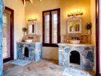 Spacious and tastefully decorated bathrooms.