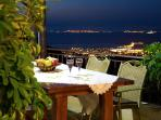 Night view of Lefkada town from Luxury Villa Senecio