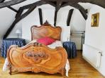 Ornate French double bed