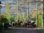 Pony trekking in the Vezere Valley