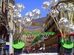 Feria de Agosto en el centro, días de fiesta en la ciudad