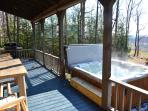 Hot Tub Off Of Rear Porch