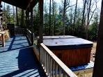 Hot Tub Off Of Rear Porch