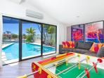 Separate Games Room with Foosball Table - fun for all the family