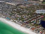 Aerial view of where you will be. 1 Block to private beach access. You wont need to find parking