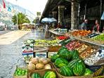 Market in Kotor 2 min drive