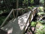 Bridge on property.