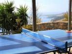 Table tennis area with sea view