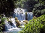 Krka waterfalls, National Park. We organize daily trips with private tours.