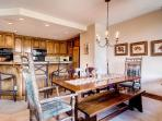This spacious layout makes it easy to cook a meal and entertain everyone all at the same time.
