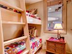 Guest Bedroom #3 is perfect for the kids with its bunk bed.