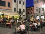Dining out in the many restaurants of Barga