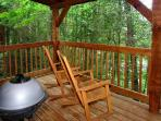 Moonshine Madness #1611- Outside Deck with Charcoal BBQ Grill
