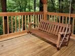 Puppy Love #1619- Porch Swing on the Outside Deck