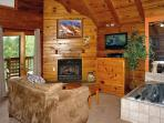 Wild Thing #1525- Living Room with Fireplace & Flat Screen TV