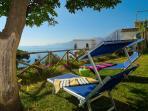 Your private garden to laze in the sun at Casa Michara in Praiano