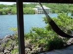 Hammock on ocean porch