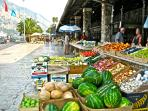 Market in Kotor, 1 km
