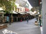 Chania Shops and Markets, shop till you drop even in the winter sunshine.