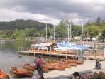 Ambleside the north end of Lake WIndermere catch the boat and go on a luvvly boat ride!