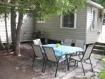 Spacious outdoor patio & BBQ area