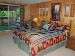 Spacious Master Bedroom Suite with Lake & Mountain views   King bed sleeps 2
