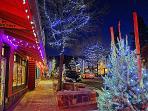 Winter scene in The Village - a 7 minute walk from 4 Seasons Of Fun