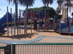 Playground which is 5 - 10 minutes walk away