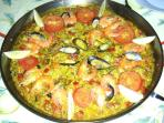 Enjoy traditional spanish paella