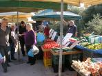 All Fruit and Vegetables Locally Grown at the Friday market in kolimbari. 10 minutes away.
