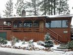 LATEST--Big Bear Lake experienced it's first winter snow on Nov-21-2014