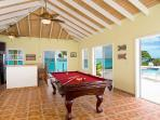 Separate Game Room w/ Pool Table by the Pool