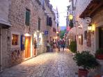 Trogir streets, full of excellent restaurants