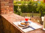 Relax & Love in Tuscany: Balcony and your breakfast