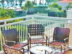 Entertain new friends on LR balcony seating 10. Rt side group Court & gulf views