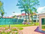 Ocean front tennis courts, lawns & seating, shuffleboard, pavered walks, clubhouse