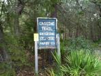 Nature trail entrance.