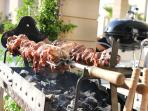 or enjoy the rotisserie grill bbq