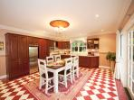 Mahogany fully-equipped kitchen/dining