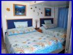 Lower home main bedroom 2 queen beds