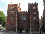 5 minute walk to nearest bus stop, Lambeth Palace