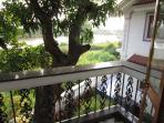 view from the top floor bedroom balcony