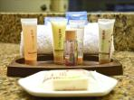 Forget your shampoo and soap? We include complimentary travel-size shampoos and soaps