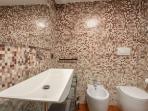 Bathroom inside lilac room