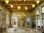 Drawing Room in Villa Kerylos, used for musical evenings, it's Arts and Craft Liberty style decor