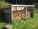 Rear wood store